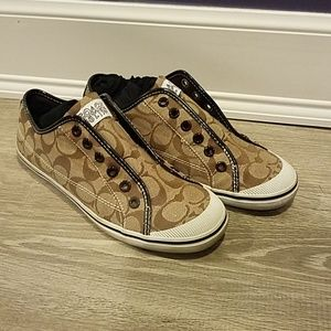 Slip On Brown Coach Sneakers - Size 7.5